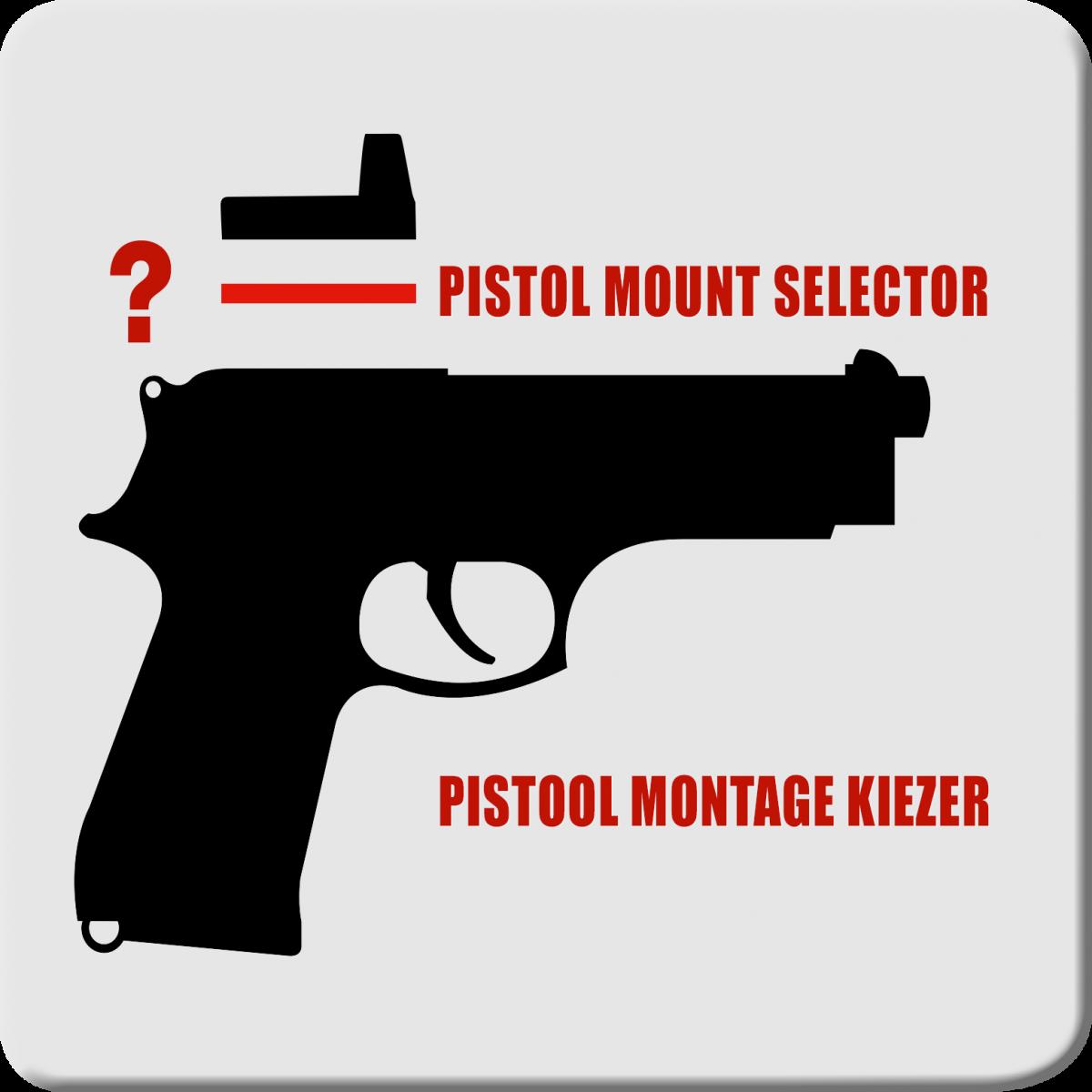 Pistol mount selector | Pistool montage kiezer