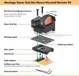 Vortex Razor Mount Red Dot Dovetail Beretta 92_