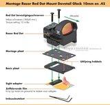 Vortex Razor Mount Red Dot Dovetail Glock 10mm_