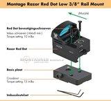 """Vortex Razor Mount Red Dot Low 3/8"""" rail mount_"""