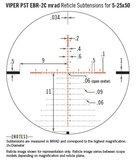 Vortex Viper PST Gen II 5-25x50 FFP richtkijker, EBR-2C Dradenkruis (MRAD) tactical_