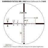 Vortex Diamondback Tactical 3-9x40 Richtkijker, VMR-1 Dradenkruis (MOA)_
