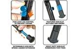 UTG TL-BP08S-A Universeel opklapbaar verstelbaar geweer statief 22,1 - 25,9 cm_