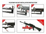 UTG TL-BP69S High-Pro wapenstatief met draaibare kop rubberen poten 22,1 - 26,9 cm_