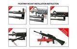 UTG TL-BP69ST Sniper wapenstatief met draaibare kop stalen poten 20,8- 26,2 cm_