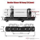 Dentler Blaser R8 snelmontage Basis Set 30mm hoog (24,5 mm)_