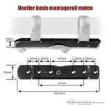 Dentler montagerail basis voor montage van ringen (Dural)_