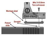 DeltaPoint Pro All Pistol Mount Kit - 10 Pistool montages_