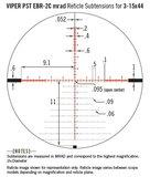 Vortex Viper PST Gen II 3-15x44 FFP richtkijker, EBR-7C Dradenkruis (MRAD) tactical scope_