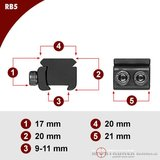 Sportsmatch RB5 adapter 11mm dovetail naar Picatinny/Weaver rail (17mm)_