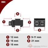 Sportsmatch RB4 Tikka T3/CZ527/Brno adapter 15mm naar 11mm dovetail (12mm)_