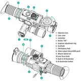 Yukon Sightline N470 S 6-24x Digitale Nachtrichtkijker incl. Weaver Montage_