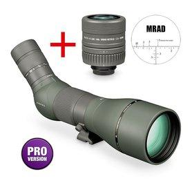 Vortex Razor HD 27-60x85 long range spotter gehoekt, MRAD dradenkruis oculair 22x
