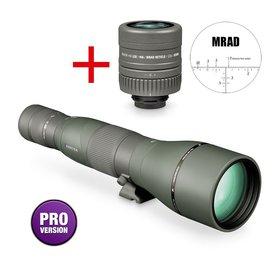 Vortex Razor HD 27-60x85 long range spotter recht, MRAD dradenkruis oculair 22x