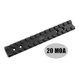 Rusan Picatinny rail Anschutz 54 - 20 MOA (B=76)