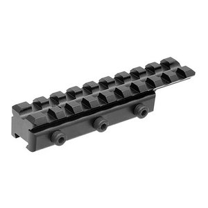 UTG 11mm Dovetail naar Picatinny/Weaver Rail Adapter 9 Slots - MNT-PMTOWL-A