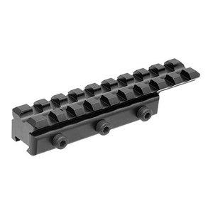 UTG 11mm Dovetail naar Picatinny/Weaver Rail Adapter 9 Slots - MNT-PMTOWL-A