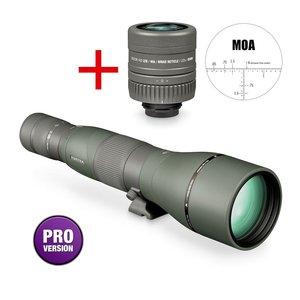 Vortex Razor HD 27-60x85 long range spotter recht, MOA dradenkruis oculair 22x